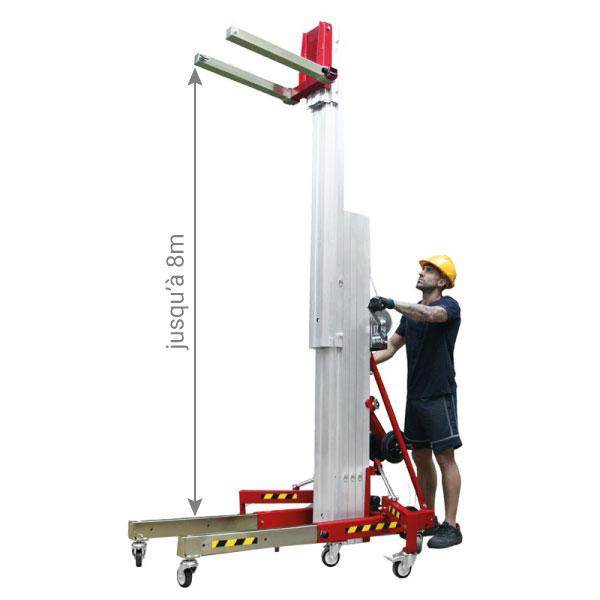 hauteur max gerbeur grande hauteur MER