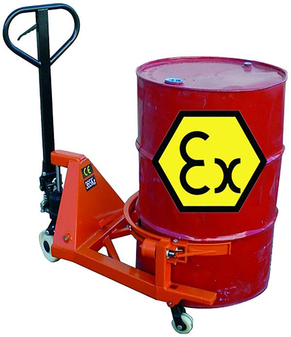 transpalette atex tambour