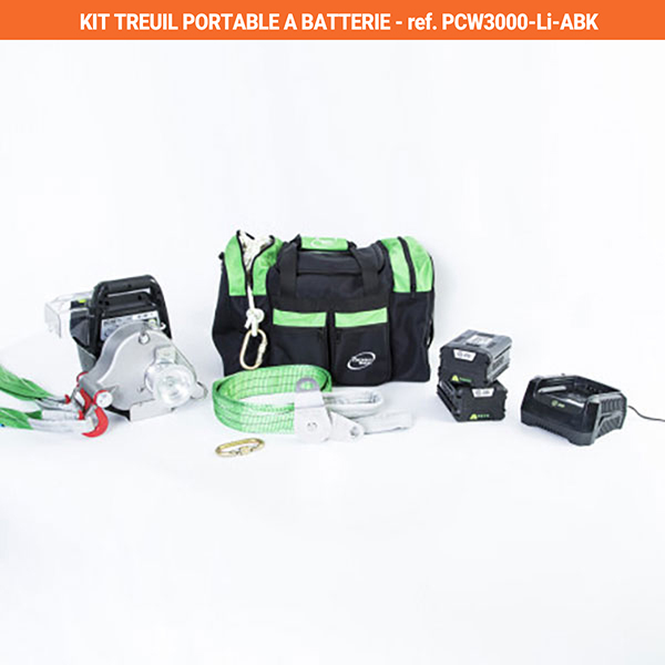 kit treuil batterie portable PCW3000