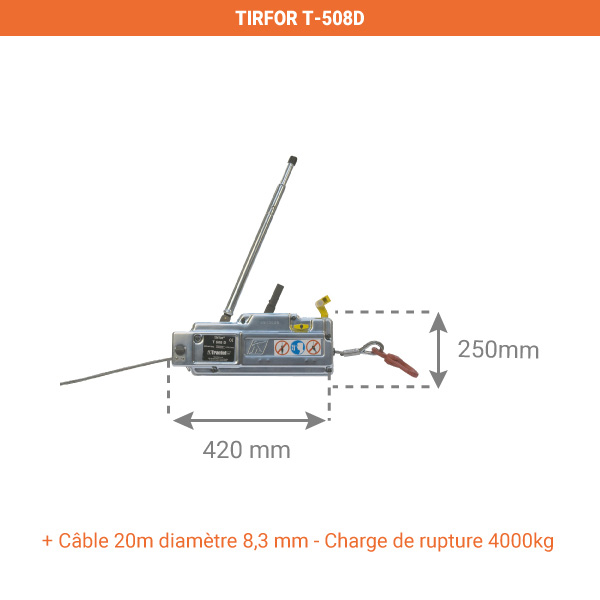 tirfor 508d dimensions