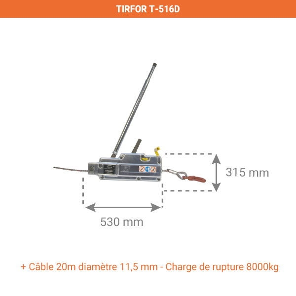 tirfor 516d dimensions