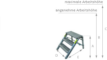 schema Klapptritt - Podest 27cm x 41cm